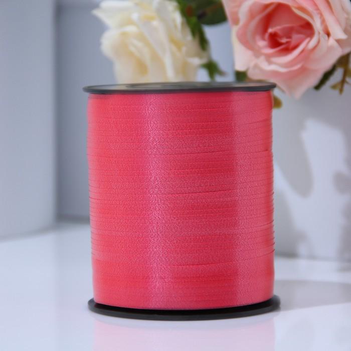 Лента для декора и подарков 0,5 см х 500 м, красная