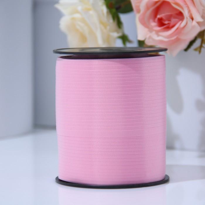 Лента для декора и подарков 0,5 см х 500 м, розовая