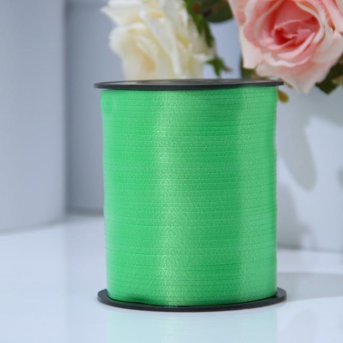 Лента для декора и подарков 0,5 см х 500 м, зелёная