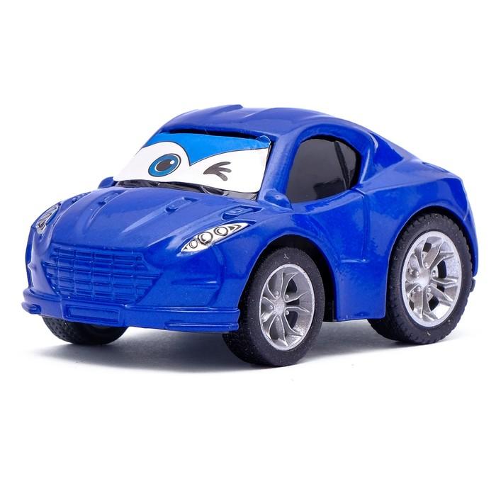 Машина инерционная металлическая «Глазастик», цвета МИКС