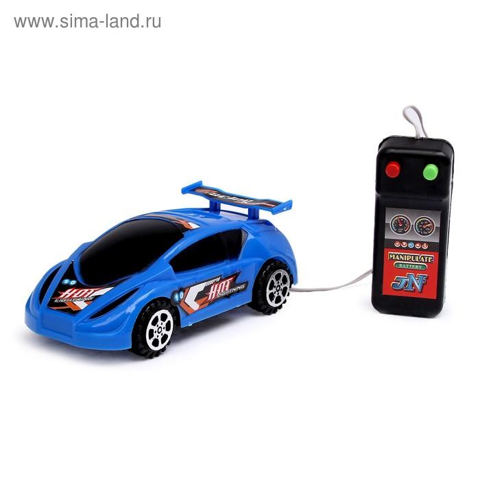 """Машина """"Гонка"""", работает от батареек, на дистанционном управлении, цвета МИКС"""