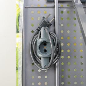 Доска гладильная «Ника 10+», 122×40 см, металл, регулируемая высота до 90 см, европодставка, рисунок МИКС - фото 4636118