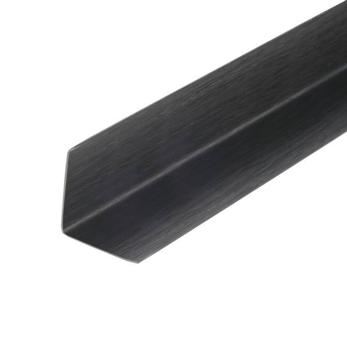 Уголок 30*30 2,7м венге чёрный (двухсторон)