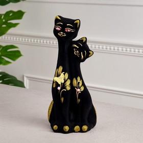 """Копилка """"Близнецы"""", покрытие флок, чёрная, золотистый декор, 31 см, микс"""