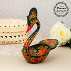 Соусник «Лебедь», хохлома