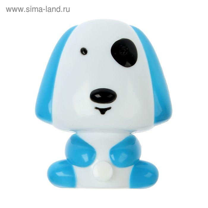 "Ночник ""Собака"" голубой 1 LED"