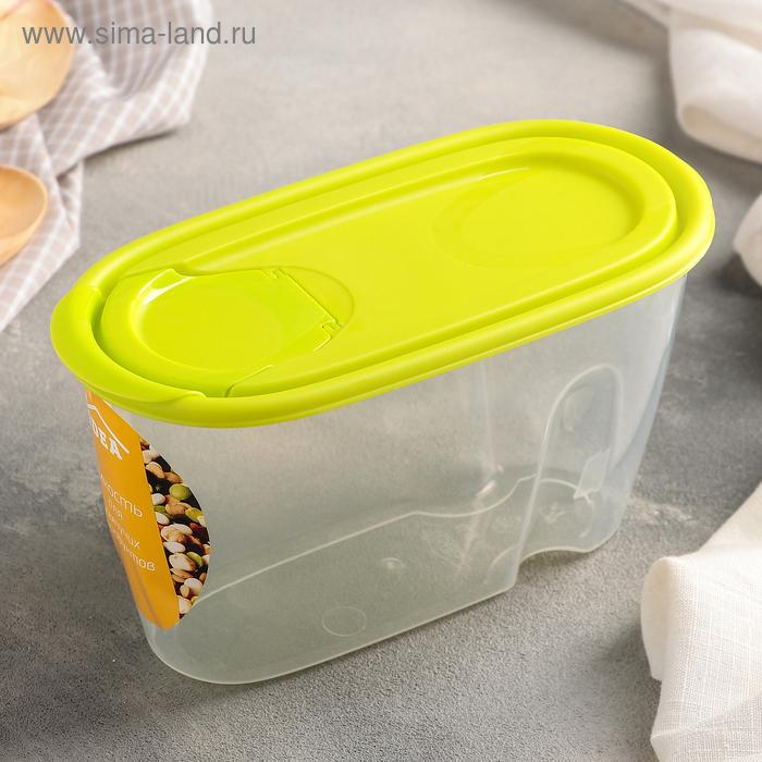 Емкость для сыпучих продуктов 900 мл, цвет салатовый