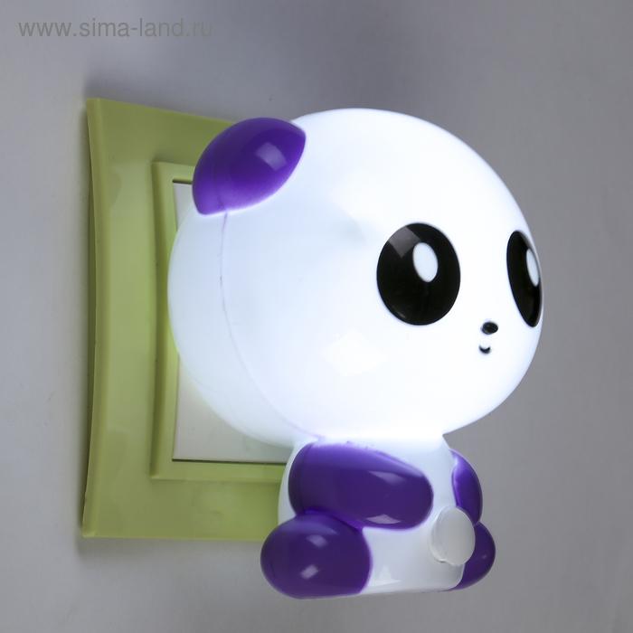 "Ночник ""Панда"", фиолетовый, 1 LED"