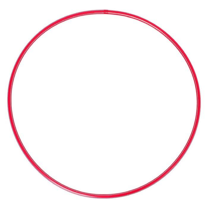 Обруч, диаметр 80 см, цвет красный
