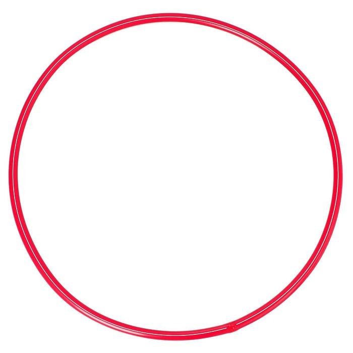 Обруч, диаметр 60 см, цвет красный