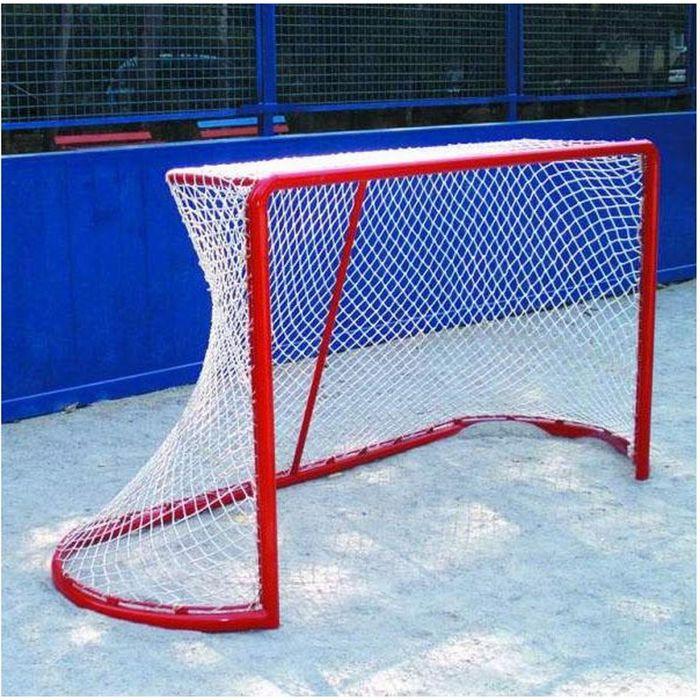 Сетка хоккейная, цвет белый, 1.85 х1.25 х 0.6 х 1.2 м, нить 2,5 мм, ячейка 40 мм (в комплекте 1 сетка)