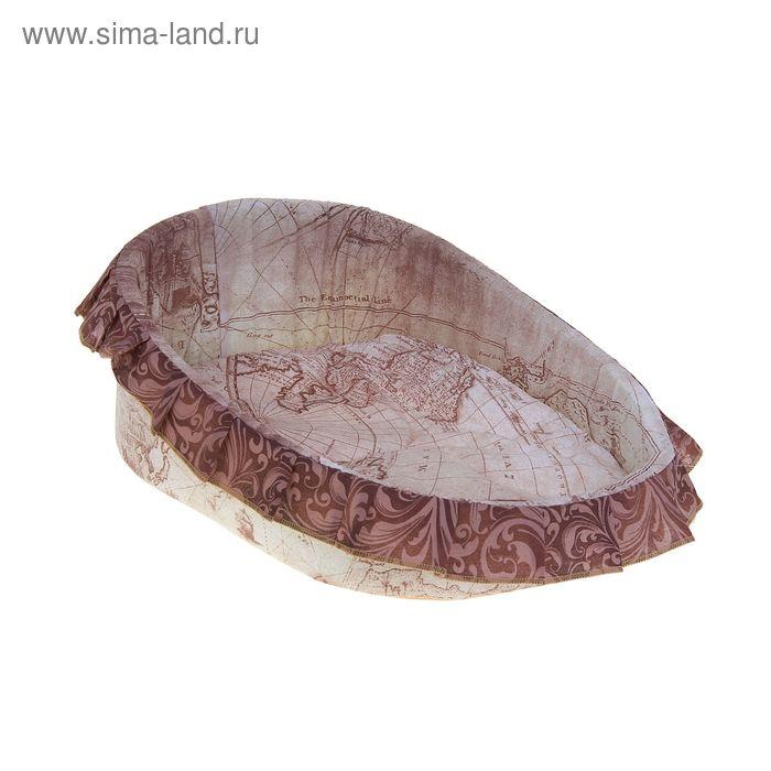Лежанка для животных, 54 х 41 х 17 см, микс цветов