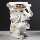 "Подставка декоративная ""Сидящий слон"", белая, 42 см - фото 1698051"