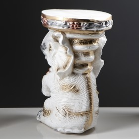 "Подставка декоративная ""Сидящий слон"", белая, 42 см - фото 1698054"