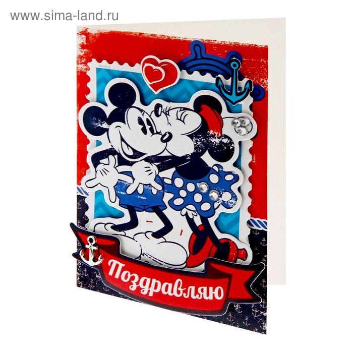 """Набор для создания открытки """"Поздравляю"""", Микки Маус"""