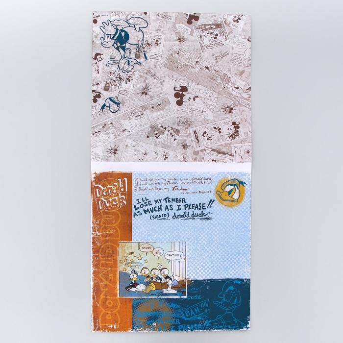"""Набор бумаги для скрапбукинга """"Old's cool"""", Микки Маус и друзья, 12 листов, 29.5 х 29.5 см, 160 г/м²"""