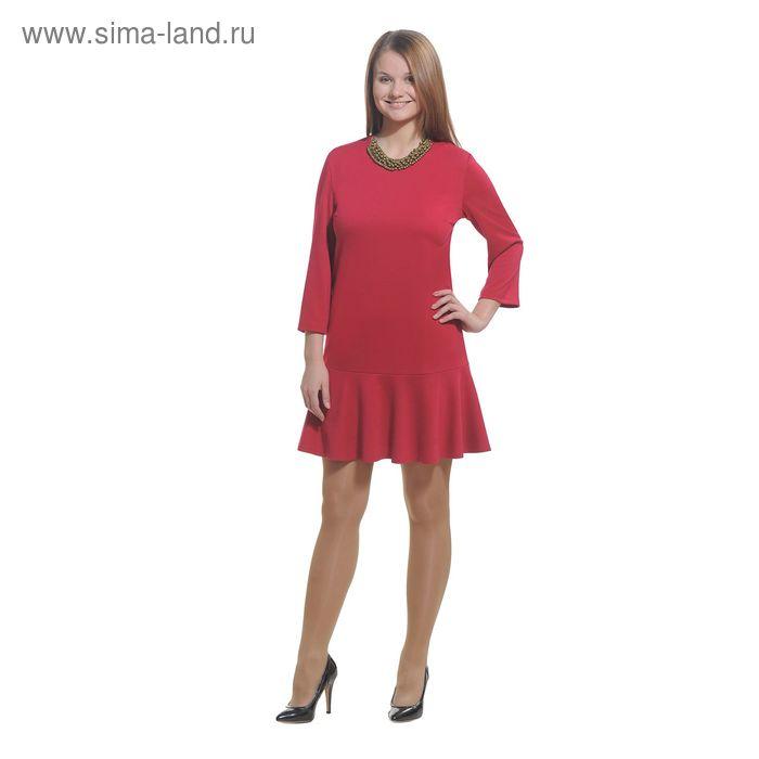 Платье женское 3779, размер 44, цвет красный