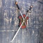 Сувенирное оружие на планшете «Рыцарский турнир», два меча на щите, 71см - фото 4677870