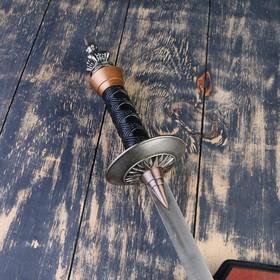 Сувенирное оружие на планшете «Рыцарский турнир», два меча на щите, 71см - фото 4677872
