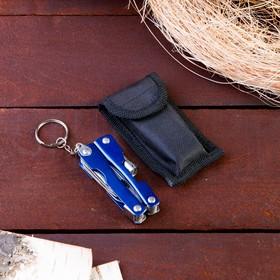 Инструмент многофункциональный 6в1 с фонариком, рукоять глянцевая, цвета МИКС Ош