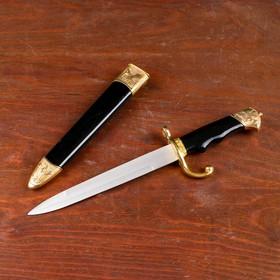 Сувенирный нож, 35 см на рукояти птицы, ножны чёрно-золотые