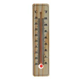 Термометр LuazON, уличный, спиртовой, дерево, Ош