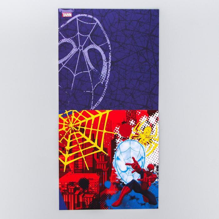 """Набор бумаги для скрапбукинга """"Супергерой"""", Человек-Паук, 12 листов 14.5 х 14.5 см, 160 гр/м2"""