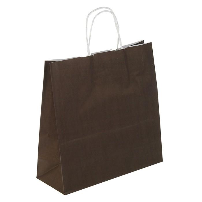 """Пакет крафт """"Радуга"""" шоколад, 32 х 12 х 32 см"""
