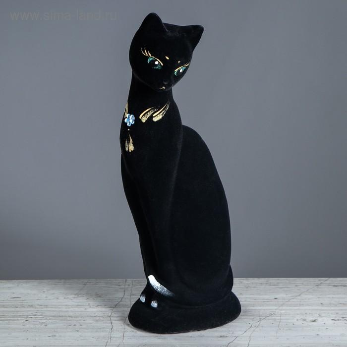 """Копилка """"Кошка Ася"""" флок, чёрная"""