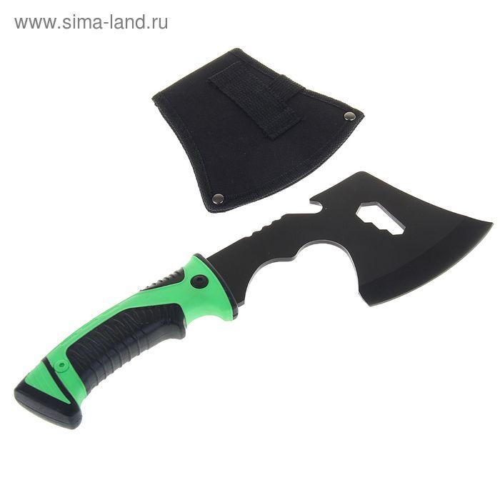 Топор в чехле, рукоять ярко-зелёная