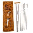 """Набор для шашлыка """"Щука"""": 6 шампуров,мангал, нож"""