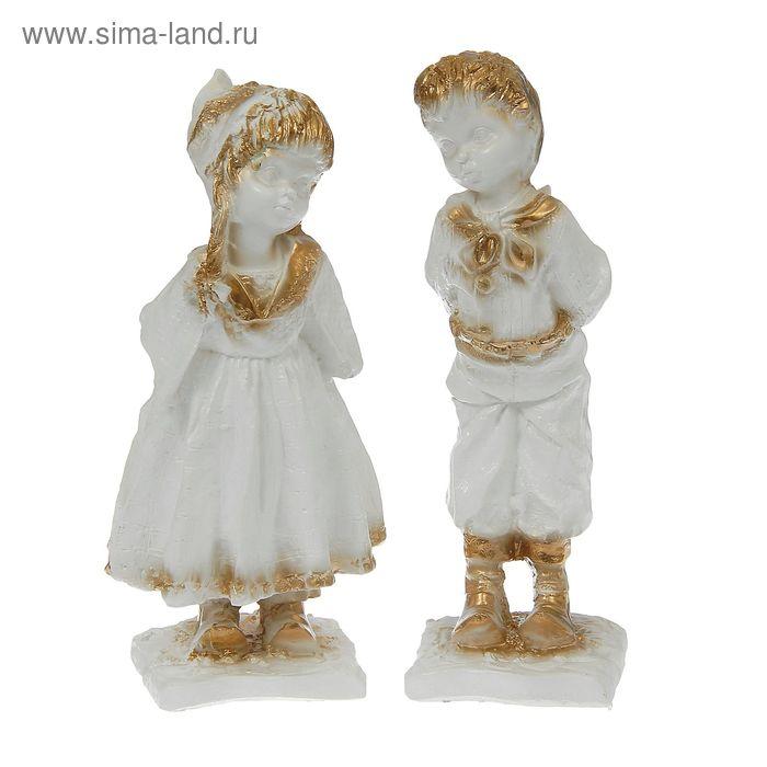 """Статуэтка """"Кай и Герда"""" белые"""