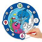 """Часы-раскраска """"Подводный мир"""", 24 см"""