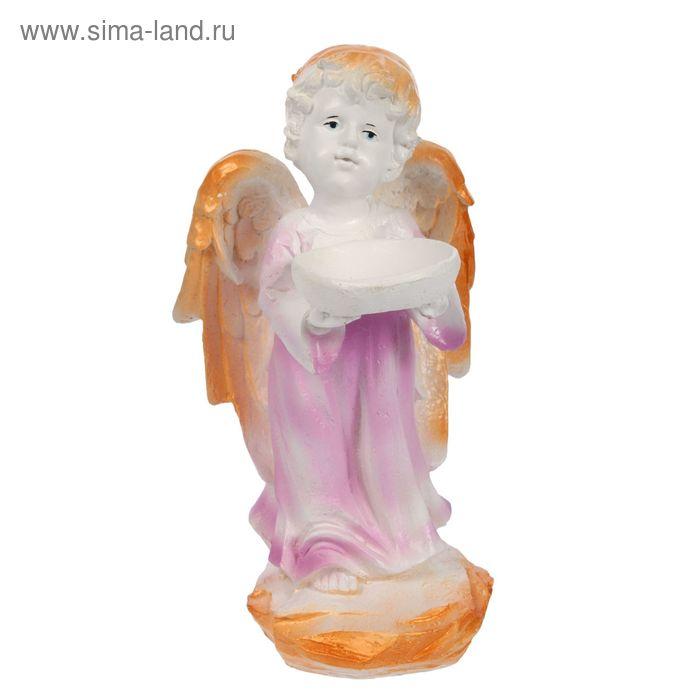 """Статуэтка """"Ангел с чашей"""" стоя, цветной"""