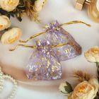 Bag gift pattern MIX, 7*9 cm, color purple