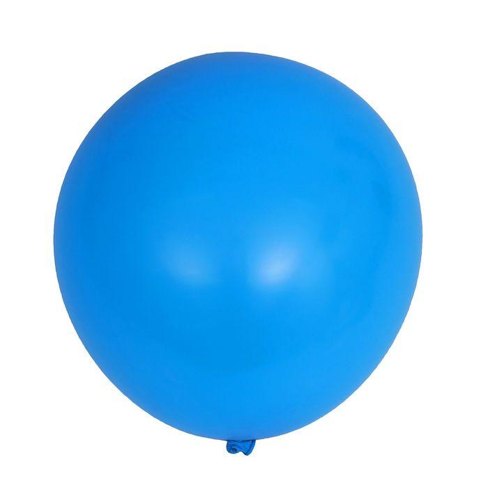 """Шар латексный 32"""" """"Гигант"""", пастель, 1 шт., цвет синий"""