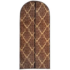 Чехол для одежды 60×137 см, спанбонд, цвет коричнево-бежевый