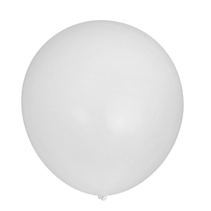 """Шар латексный 32"""" «Гигант», пастель, 1 шт., цвет белый - фото 308470217"""