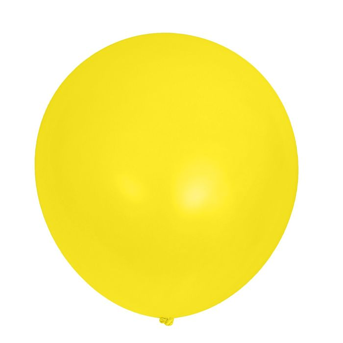 """Шар латексный 32"""" «Гигант», пастель, 1 шт., цвет жёлтый - фото 308468647"""