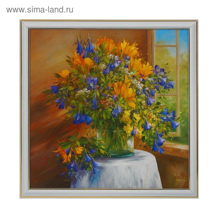 """Картина """"Полевые цветы у окна"""""""