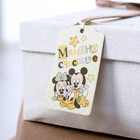 """Шильдик на подарок (6 шт.) """"Мамино счастье"""": Микки Маус,  5x9 см"""