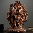 """Садовая фигура """"Голова льва"""" огромная, медь"""