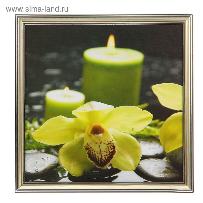 """Картина """"Лимонная орхидея со свечами"""""""