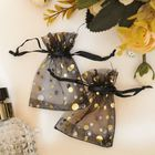 Bag gift pattern MIX, 7*9cm, color black and gold