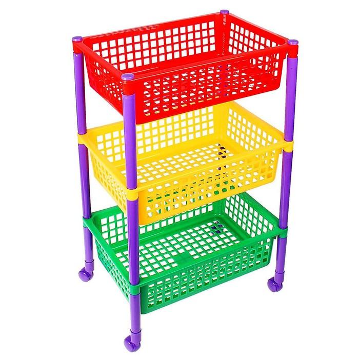 Контейнер для игрушек «Светофор», на колёсиках