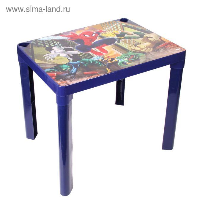 """Детский стол """"Человек-паук"""", цвет синий"""