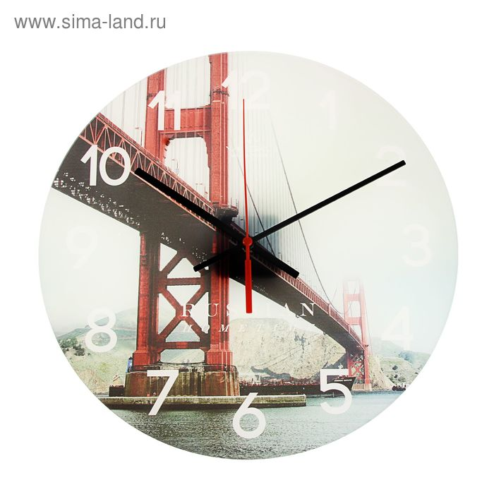 """Часы настенные круглые акрил """"Мост"""""""