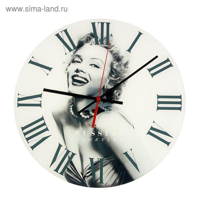 """Часы настенные круглые акрил """"Мерлин Монро"""""""