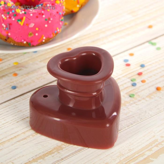 """Форма для пончиков 8х8х7 см """"Сердце"""""""