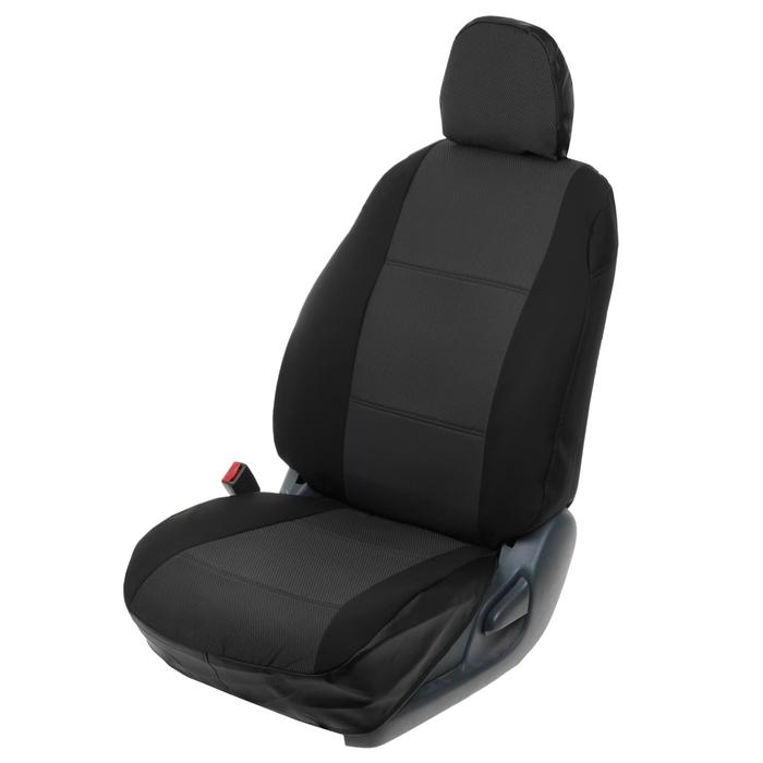 Авточехлы для Hyundai SOLARIS седан 40/60, 2010-2017, темно-серый